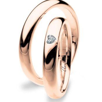 Fede Nuziale UNICA in oro Rosa e Diamanti