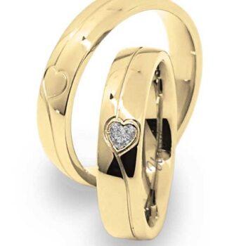 Fede Nuziale UNICA in oro Giallo e Diamante