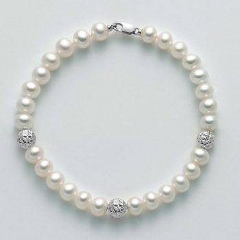 Bracciale Perle e Oro Bianco PBR2305B